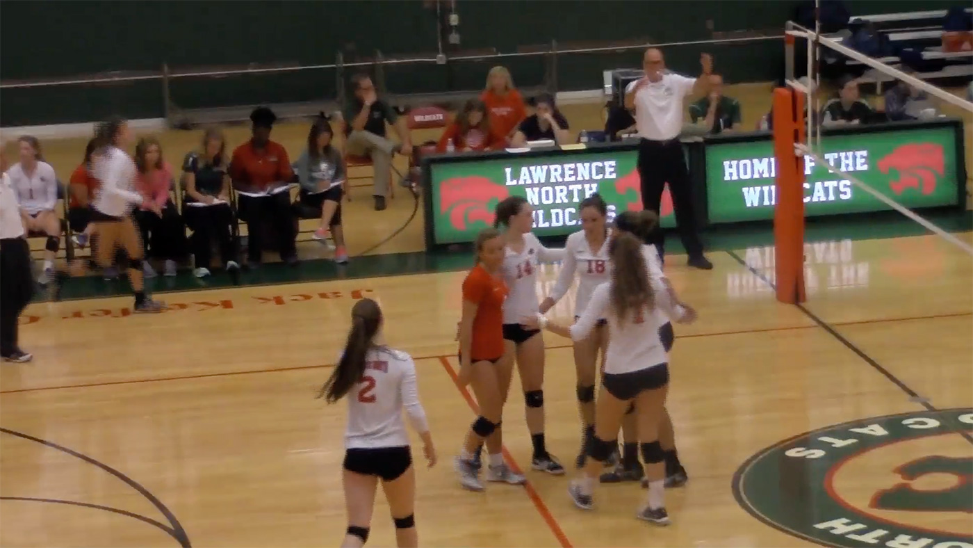 Lawrence North Upsets #1 Cathedral Volleyball